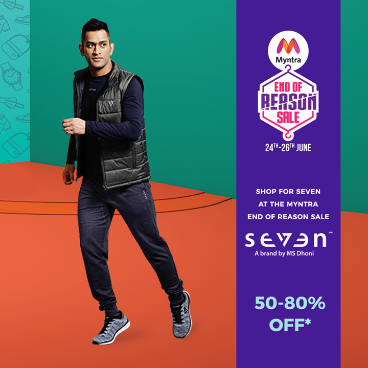 The big, bigger, biggest fashion sale is on! Check out #Seven‏ at #MyntraEndOfReasonSale. June 24th to 26th.