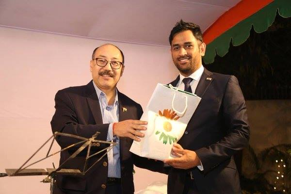 Got a warm welcome from the High Commissioner of India, Harsh Vardhan, in Bangladesh