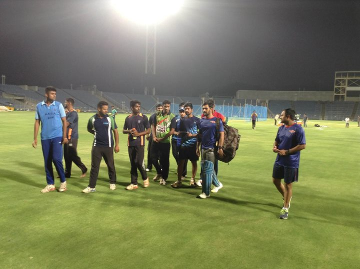 In the practice session with my new IPL team.