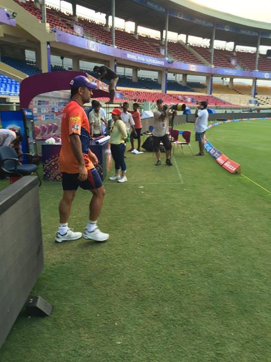 During yesterday's practice session at our new home ground in Vizag.