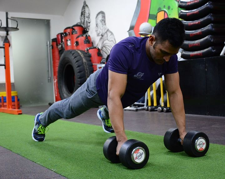 While working out at SportsFit World Vasant Kunj. #FitnessIsAnAttitude