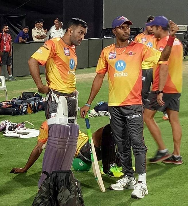 From today's practice session in Pune. Rising Pune Supergiant