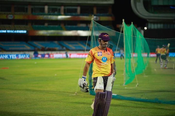 A pic from yesterday's net session in Rajkot.