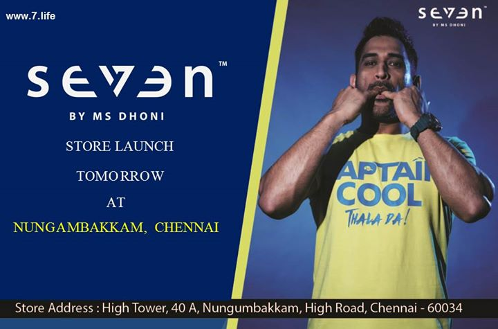 For all fans in Chennai, Seven Store Launch tomorrow at 10 am #IAMSEVEN