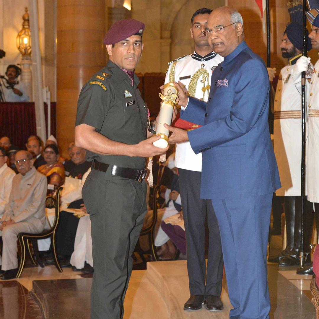 An honour to get the Padma Bhushan and receiving it in Uniform increases the excitement ten folds.thanks to all the Men and Women in Uniform and their families for the Sacrifices they make so that all of us could enjoy our Constitutional Rights.Jai Hind