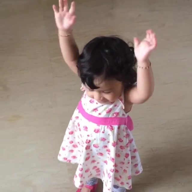 Happy Independence Day to all.tried to teach ziva something special.not perfect but good enough from an 18 month old